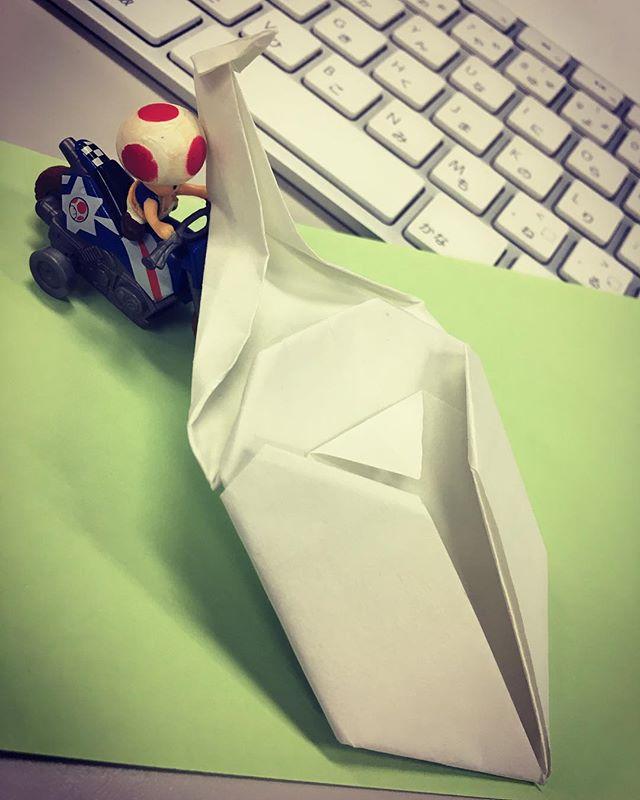 正解は…カブトムシぃ〜足の折り紙は工程が難しいとのことでした。#折り紙 #折る #カブトムシ